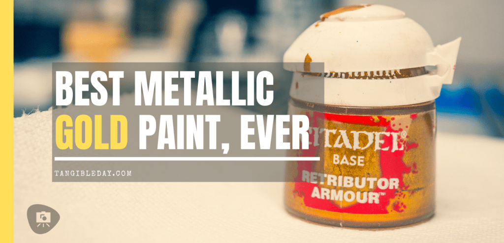 Best metallic gold paint for miniatures and models. Citadel Retributor Armour metallic base paint