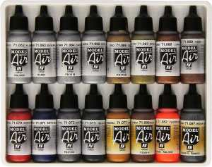 Vallejo Metallics Set Model Air Paint review for airbrushing or regular brush application - best metallic model paint for painting miniatures and models