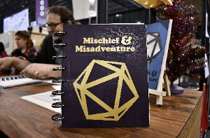 7 Cool Tabletop Gaming Products Showcased at Pax Unplugged - Unique RPG gaming swag and accessories - Mischief & Misadventure Campaign Planner (Gaming Journals)