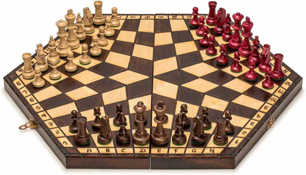 "Chess: A ""Gateway Drug"" into Miniature Wargaming? - 3 player chess set - tabletop gaming set"