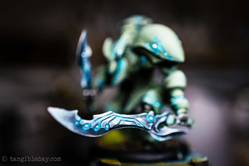 NMM painted power sword on a Warmachine Retribution of Scyrah model (Privateer Press). What is Non-metallic metal?