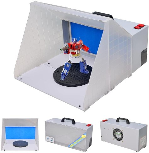 Top 10 best spray booths for airbrushing miniatures and models - Best spray booth for airbrush use and spraying scale models - airbrush spray booth recommendation with tips - WeChef Portable Airbrush Craft Spray Booth Kit review