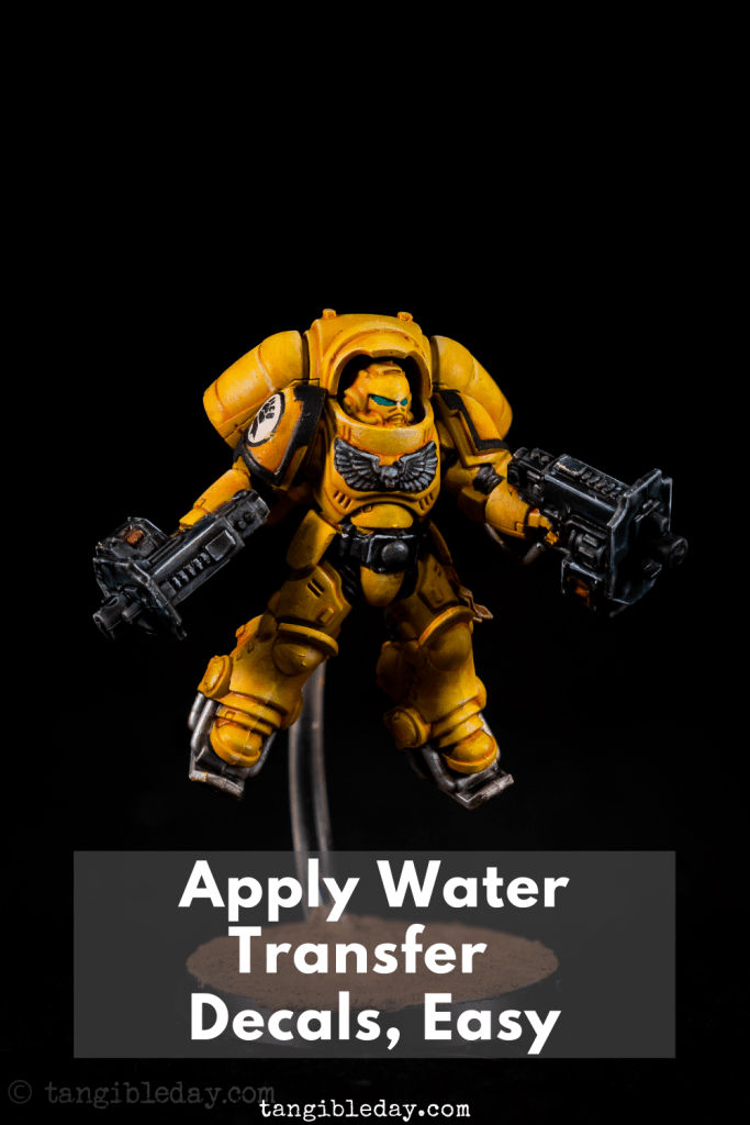 How-to Apply Warhammer Space Marine Decals (Tips) - How to use wet slide decals on models and miniatures - easy water transfer decals
