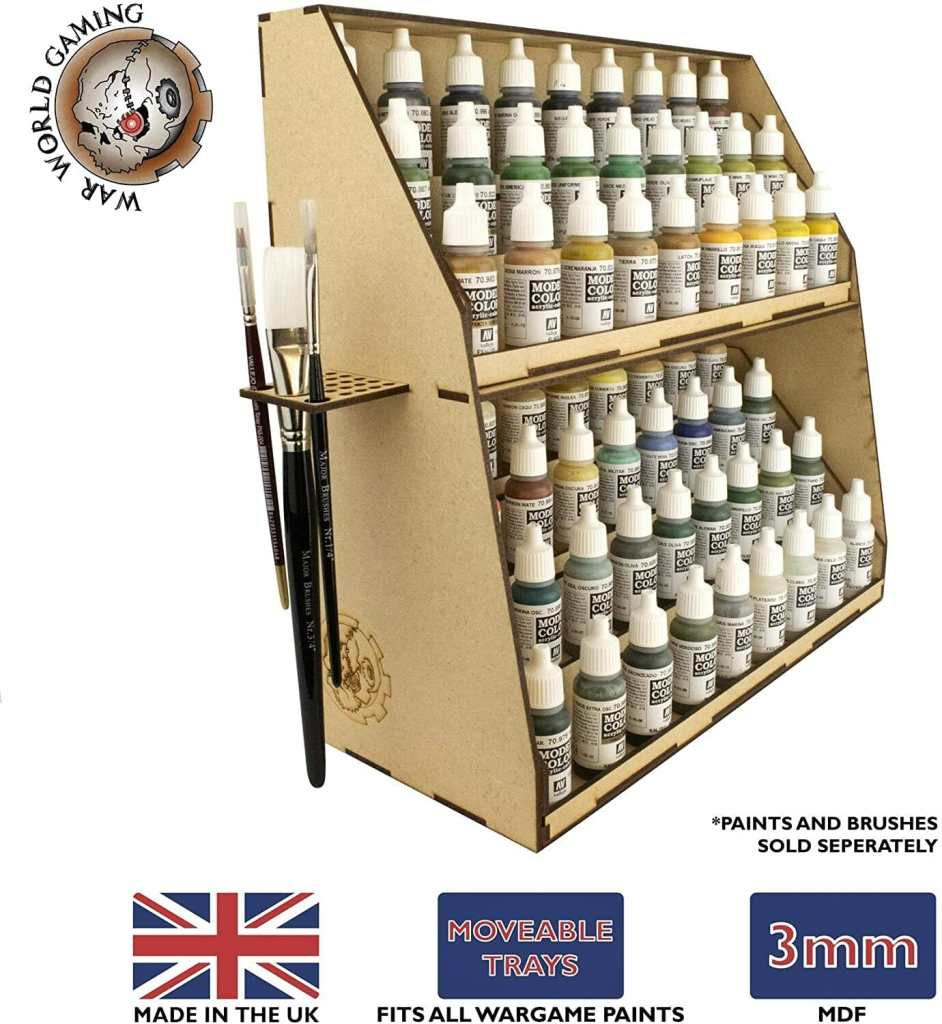 15 Useful Hobby Paint Storage Racks and Organizers. Recommended hobby paint storage, miniature painting station organizer. How to storage Vallejo army painter dropper bottles or Warhammer Citadel paint pots. Best paint display racks for miniature and model painters. Paint station for modelers and miniature painters