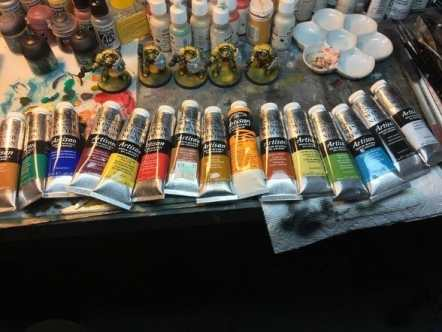 best oil paints for miniatures and models - oil paints for miniature painting and washes – how to use oil washes and filters for scale models – oil paint for painting miniatures - tutorial miniature painting with oils - oil paint collection