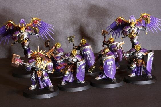 Stormcast Eternal Paint Schemes - 9 Color Motifs - how to paint stormcast eternals - color schemes for stormcast eternals, liberators, celestants, and other Age of Sigmar models from the Stormcast Eternal range - 9 color schemes for Stormcast Eternal models and miniatures from Citadel Games Workshop - a purple army