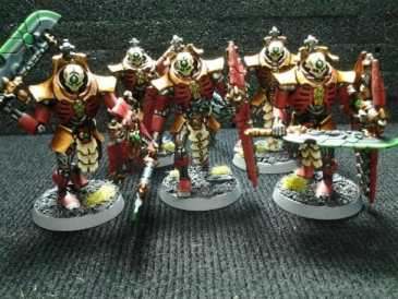 Necron Paint Schemes - 9 Color Motifs - how to paint Necrons - color schemes for Necrons, Necron Warriors, Sautekh or Zathanor Dynasty, and Necron dynasties - Indomitus Warhammer 40k Necron range color palette - 9 color schemes for Necron models and miniatures from Citadel Games Workshop - historical themes