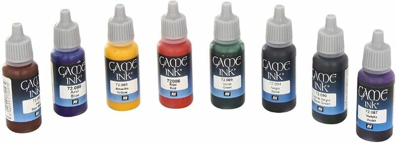 Best 15 inks for painting miniatures and models - citadel wash set - best inks for miniature painting - best inks for models - how to use inks on miniatures - inks for painting miniatures - Vallejo game color ink review
