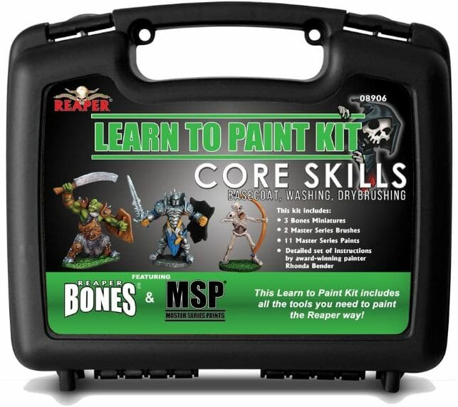 Top 10 best miniature paint set – best miniature paint sets review  –  Where to begin painting tabletop wargaming miniatures – miniature painting kits and supplies - Reaper learn to paint kit core skills