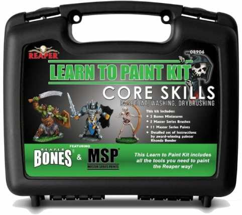 Essential supplies and tools for painting miniatures and models – required tools for painting miniatures – essential miniature painting tools and supplies for wargaming models and rpg minis – d&d miniature painting supplies - best starting kit for miniature painting starters and newbies - learn to paint kit reaper core skills - basecoat, washing, and dry brushing