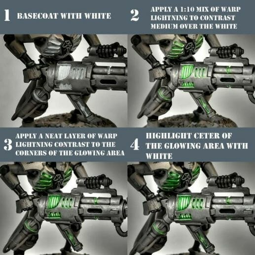 How to paint necrons simple easy fast - tutorial for painting necrons - necron paint schemes - necron color scheme - green dark grimdark color scheme - how do you all paint necrons how do you paint new necrons are necrons easy to paint - OSl object source lighting tutorial