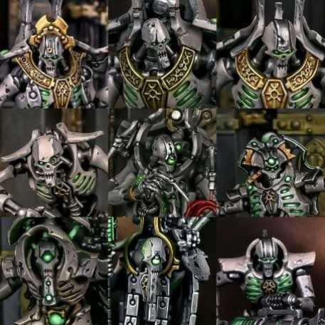 How to paint necrons simple easy fast - tutorial for painting necrons - necron paint schemes - necron color scheme - green dark grimdark color scheme - how do you all paint necrons how do you paint new necrons are necrons easy to paint - headshots
