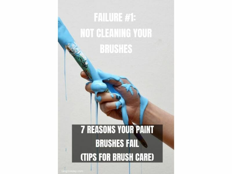 7 Reasons why brushes for miniature painting fall apart - reasons for paintbrush failure - ways to take care of your paint brushes - miniature paint brush care and maintenance - tips for brush care for modelers and hobbyists - paintbrush cleaning tips and care - clean your brushes