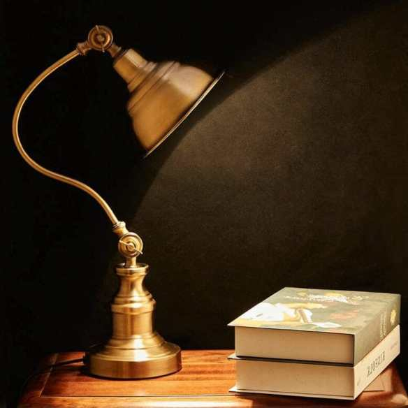 15 Cool Office Lamps for Any Workspace – cool desk lamps – cool lamps – office lamp ideas – unique desk lamps – best lamps for office work – unique office lamp - vintage table lamp with rotary shade