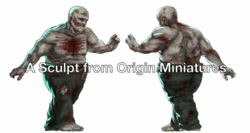 Painting a zombie RPG miniature with oil paints - painting RPG miniatures - oil painting miniatures - origin miniatures - how to paint rpg miniatures - how to paint dungeon and dragons miniatures - painting miniatures and models for role playing games - oil painting 28mm miniatures - zombie brute concept