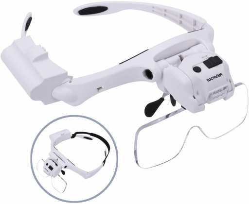 Best hobby magnifying glasses for modeling and miniatures - Chris Spotts The Spotted Painter review magnifying headsets - hands free magnifiers review - Yoctosun review