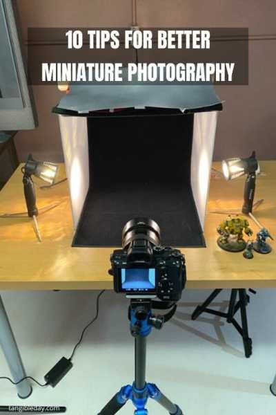 10 Simple Miniature Photography Tips - 10 Simple Tips for Photographing Miniatures and Models - How to improve your miniature photography with professional tips and tricks - overview of how to take better pictures of your miniatures and models - use a tripod tip like this