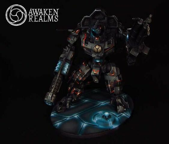 Tau sept color schemes, caste color schemes for Tau, T'au paint color scheme ideas – Grimdark Tau style, Blachitsu Tau painting, how to paint Tau miniatures, Games Workshop Tau paint schemes – How to paint grimdark Tau – painting Blanchitsu Tau - black stealth