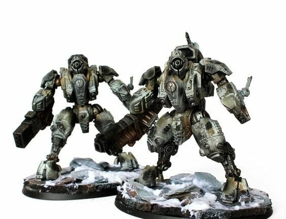 Tau sept color schemes, caste color schemes for Tau, T'au paint color scheme ideas – Grimdark Tau style, Blachitsu Tau painting, how to paint Tau miniatures, Games Workshop Tau paint schemes – How to paint grimdark Tau – painting Blanchitsu Tau - tau war snow