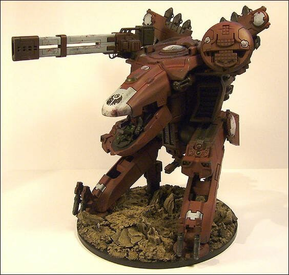 Tau sept color schemes, caste color schemes for Tau, T'au paint color scheme ideas – Grimdark Tau style, Blachitsu Tau painting, how to paint Tau miniatures, Games Workshop Tau paint schemes – How to paint grimdark Tau – painting Blanchitsu Tau - reddish brown rust