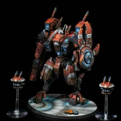 Tau sept color schemes, caste color schemes for Tau, T'au paint color scheme ideas – Grimdark Tau style, Blachitsu Tau painting, how to paint Tau miniatures, Games Workshop Tau paint schemes – How to paint grimdark Tau – painting Blanchitsu Tau - airbrushed tau