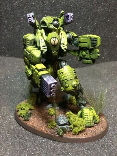 Tau sept color schemes, caste color schemes for Tau, T'au paint color scheme ideas – Grimdark Tau style, Blachitsu Tau painting, how to paint Tau miniatures, Games Workshop Tau paint schemes – How to paint grimdark Tau – painting Blanchitsu Tau - lime green tau concept