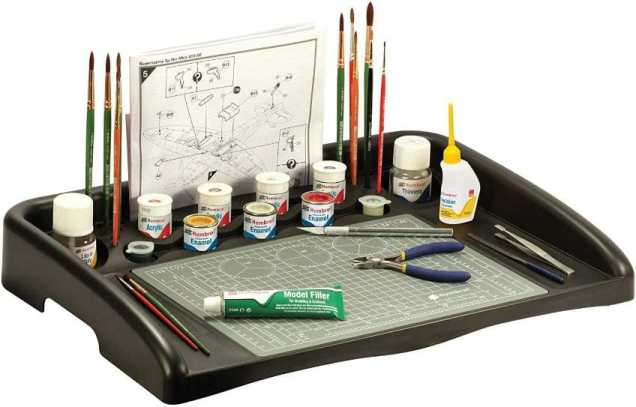 Best miniature painting cases, portable hobby paint station, and miniature paint workstations for modeling and hobbyists – Best portable hobby workstation for painting miniatures and models – tips and guide for paint organizers - model paint case and box - airfix humbrol model kit workstation and painting base