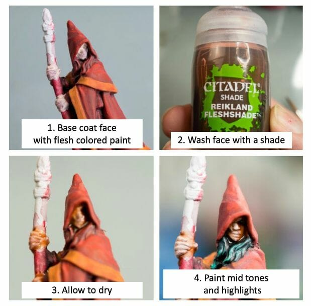 How to paint RPG miniatures for tabletop games in 10 easy steps - painting dnd models - rpg miniature painting - how to paint miniatures for dnd and roleplaying games RPGs - painting dungeon and dragon models - painting dnd minis - recommended varnishes for gaming miniatures - how to paint miniature faces and skin