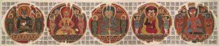 Gade, mandala series: five new Buddhas, 2008