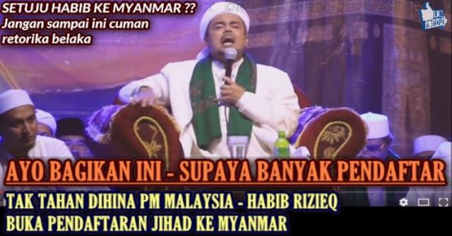 Geram Dihina PM Malaysia, Habib Rizieq Buka Pendaftaran Jihad Ke Rohingya