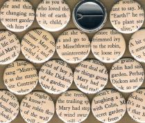 Secret Garden Upcycled Badges