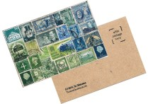 A chunky collaged art block 'postcard'