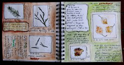 Nature inspired art journal page