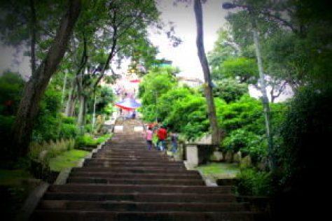 Stairs at Swambhunath temple