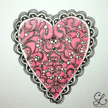 pink and pearls with crescent moon border