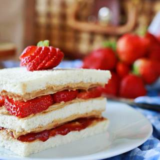 The ultimate peanut butter and jelly sandwich! Best ever PB&J's by Flirting with Flavor.