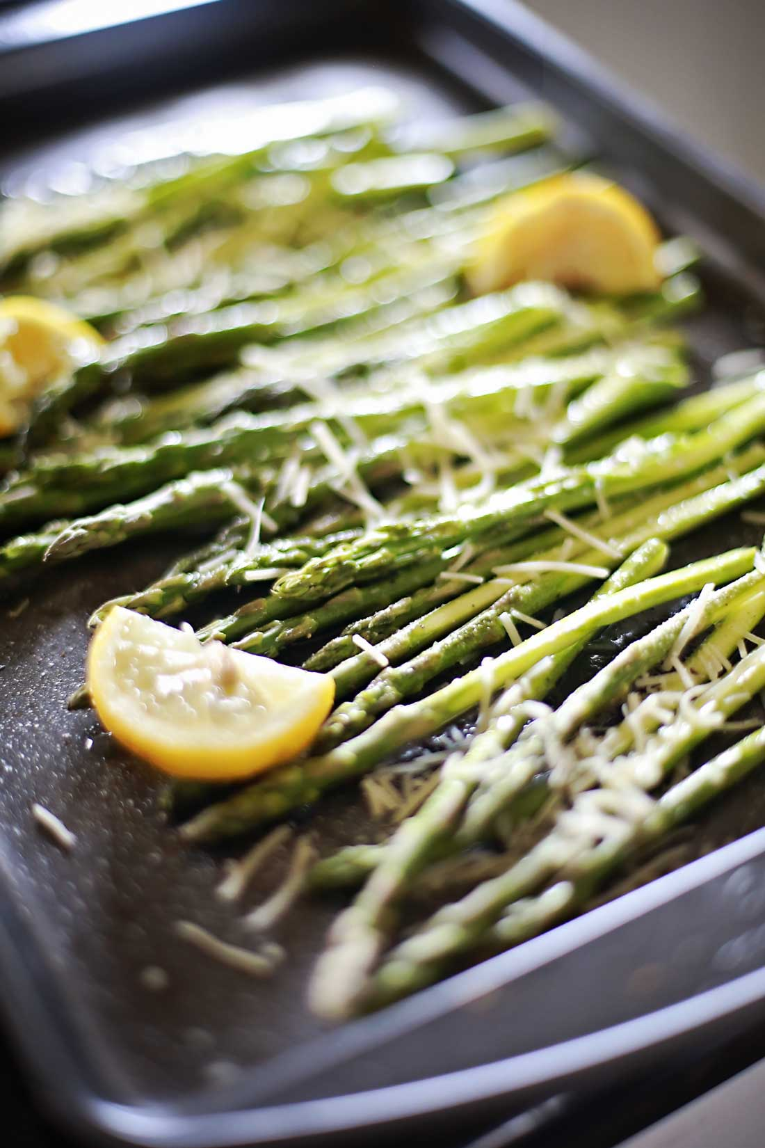YUMMY lemon parmesan roasted asparagus!!!