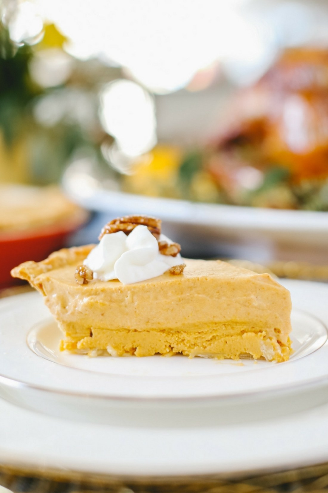 The most incredible pumpkin pie ever! Pumpkin Cream Cheese layer and a pumpkin chiffon pie layer!