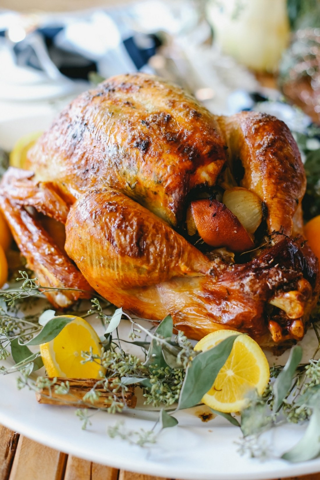 Turkey recipe: thisOrange Spiced Turkey is moist, tender, delicious & the perfect centerpiece for your holiday meal! Easy to make & bursting with flavor.