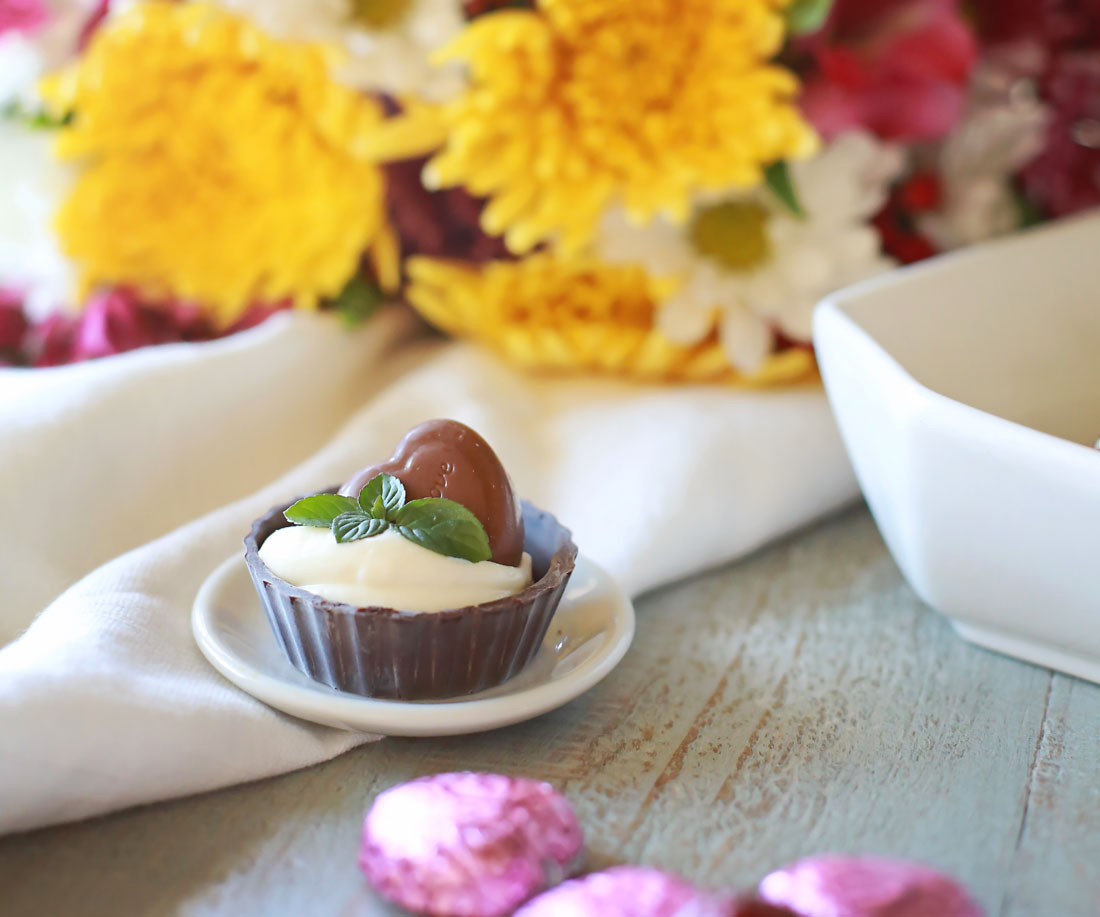 Mini chocolate Cheesecakes with Dove