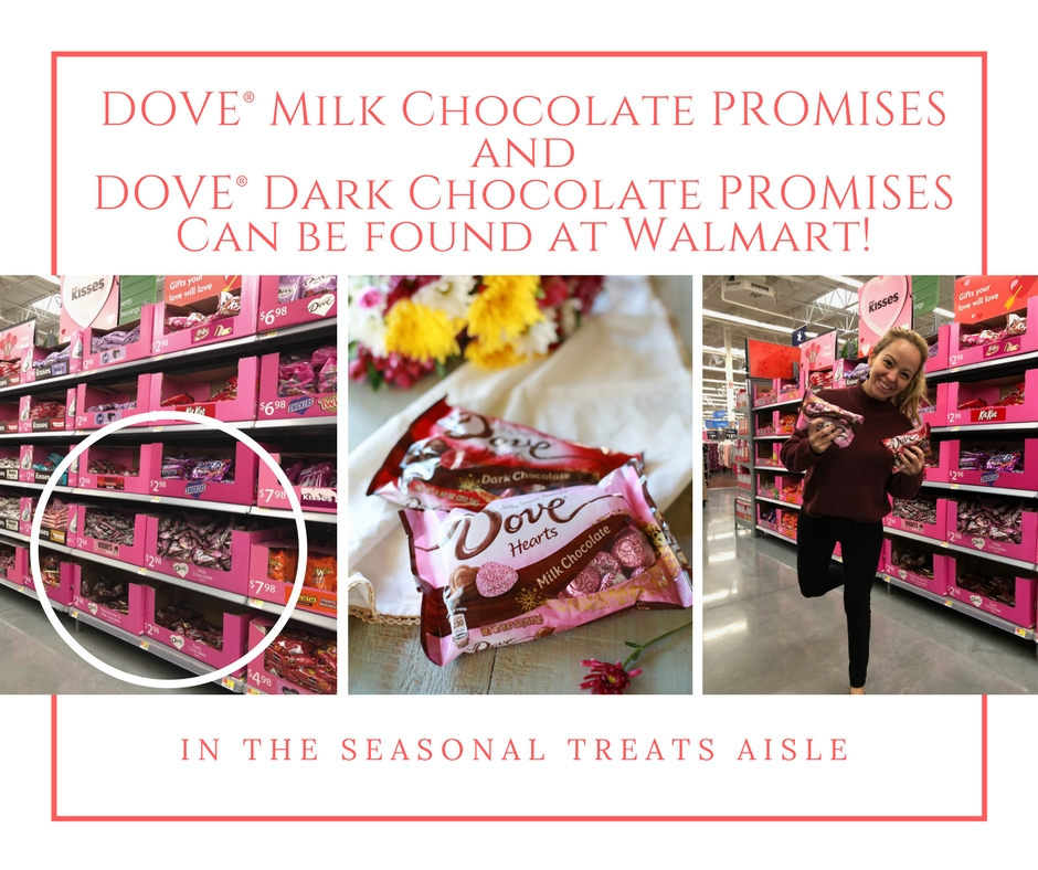 Dove chocolate promises!
