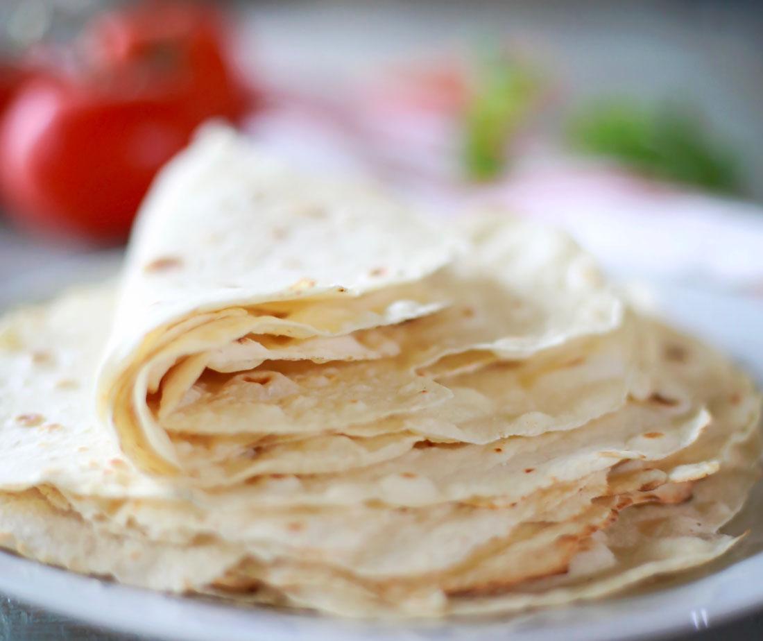 Homemade flour tortillas!