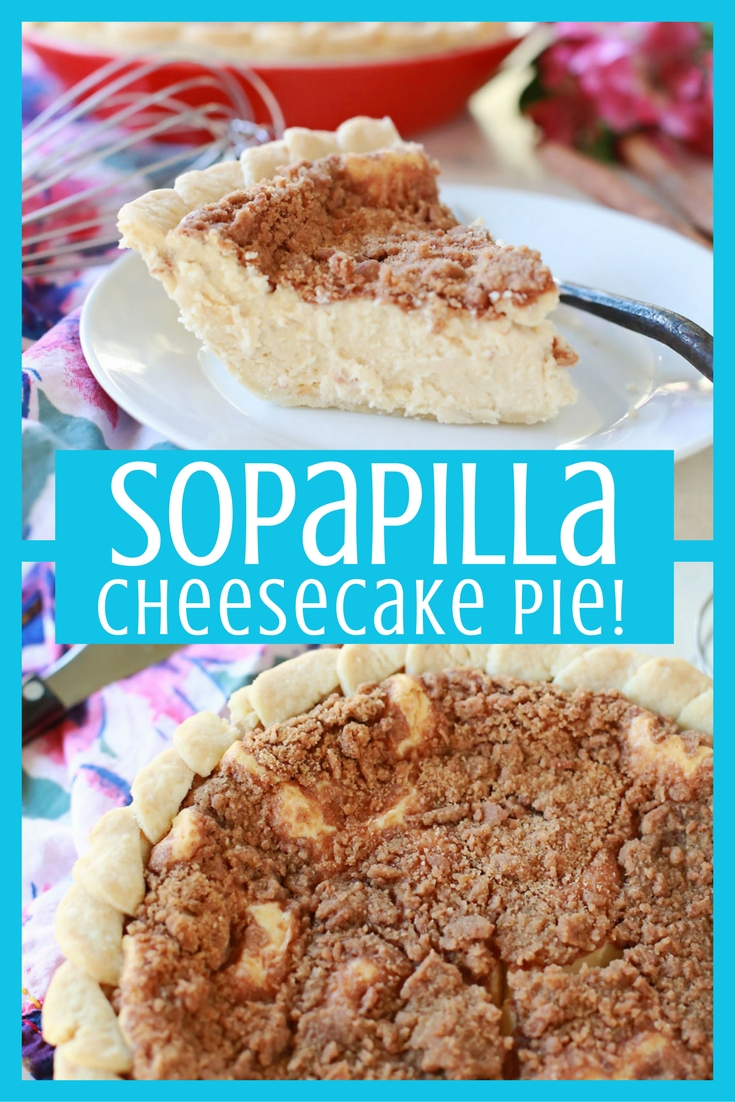 INCREDIBLE and easy Sopapilla Cheesecake Pie! Flaky crust, creamy center, cinnamon crumble top... you guys this was soooo good!