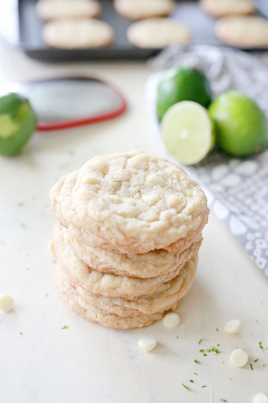Whit Chocolate Lime Cookies- aka the best and easiest cookies int he history of ever! These were amazing cookies!