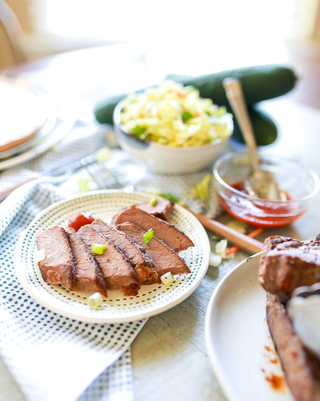 Tender and delicious Korean style sous-vide beef short ribs