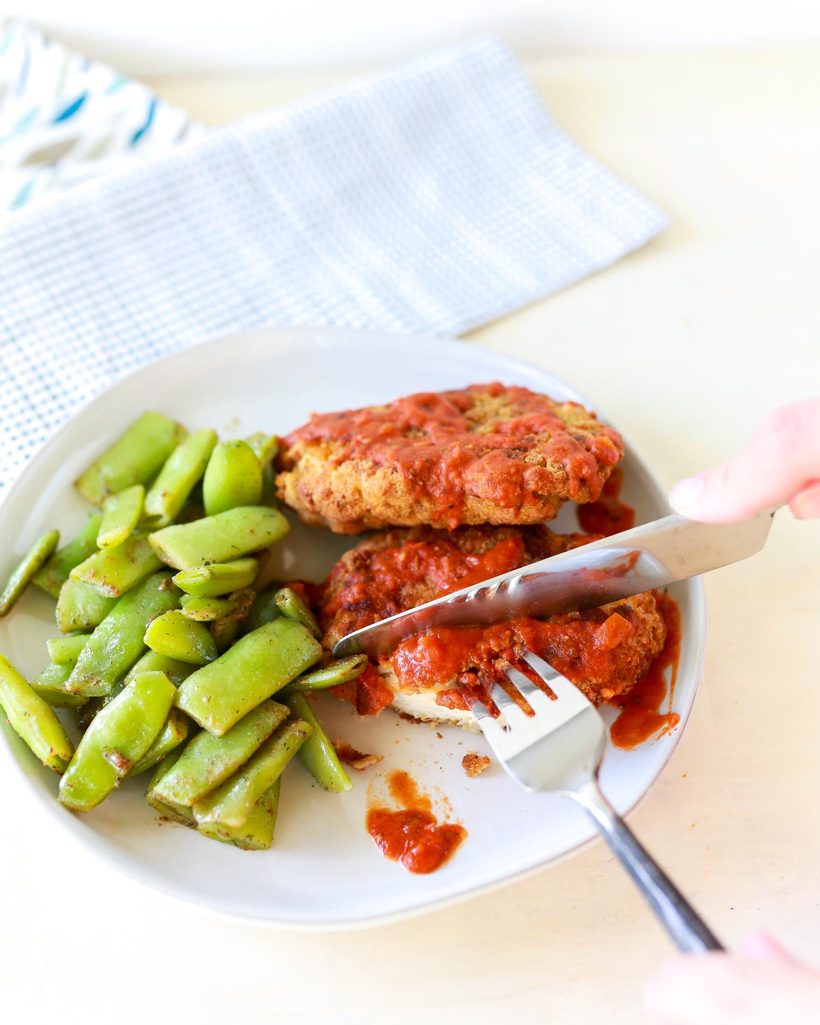 Crispy delicious chicken pomodoro