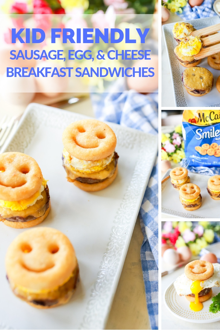 Quick, easy, and FUN family breakfast sliders! Sausage, egg, and cheese sandwiches reinvented into a simple but delicious sandwich the whole family can enjoy!!!