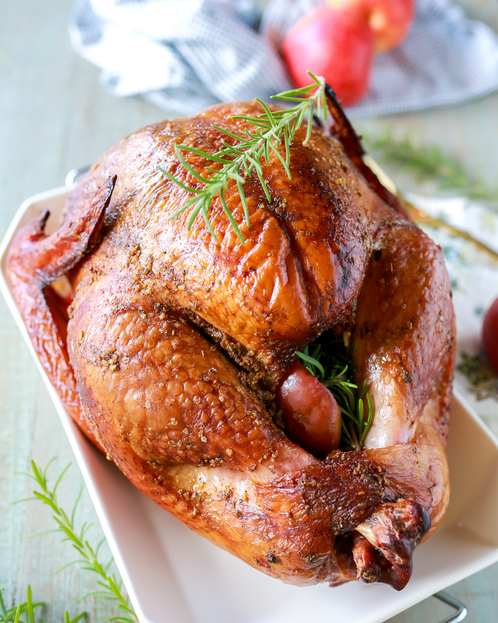 Easy tutorial for the most amazing smoked turkey ever that is totally moist and flavorful!