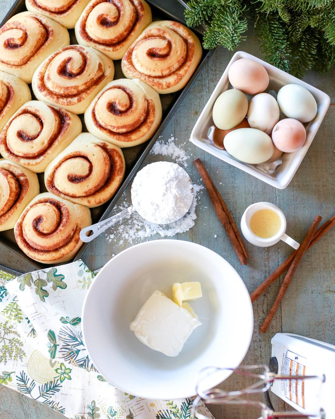 The best cinnamon rolls ever of all time! eggnog cinnamon rolls!!!