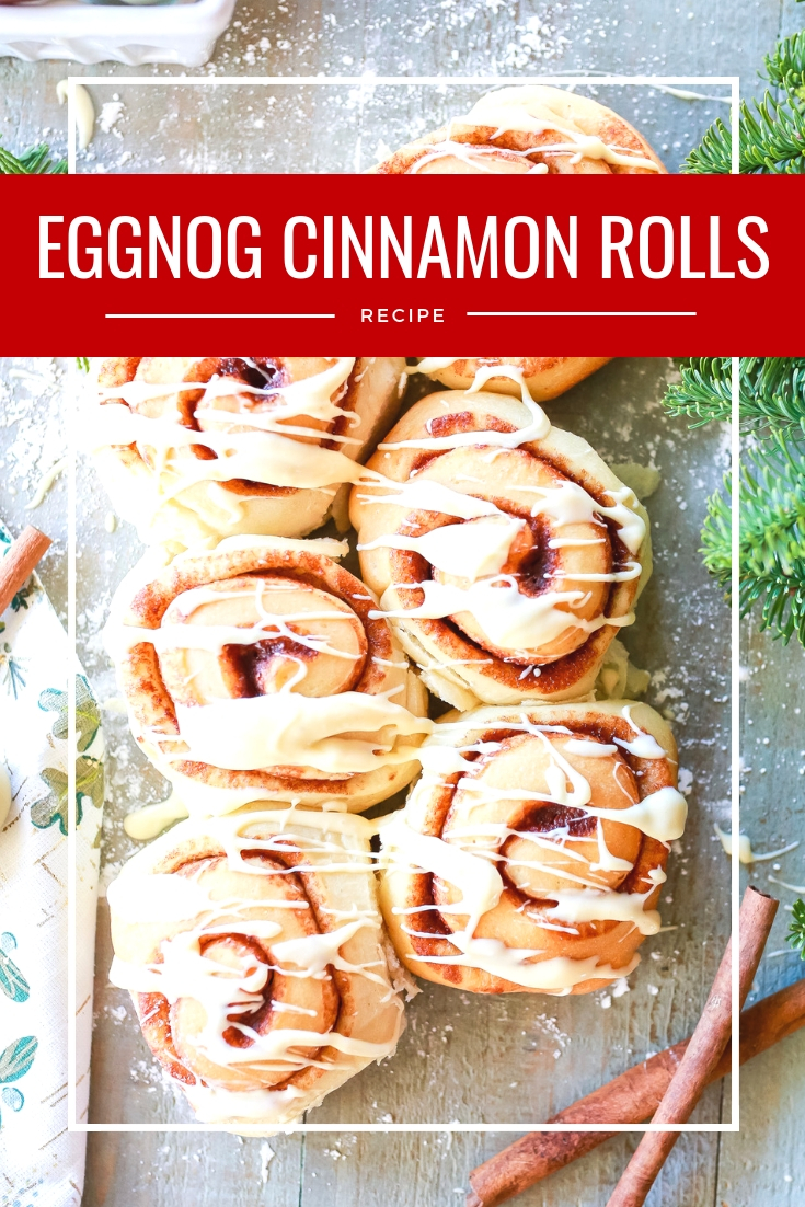 Like holidays and memories in a bite! Eggnog cinnamon rolls recipe. light, fluffy and delicious!
